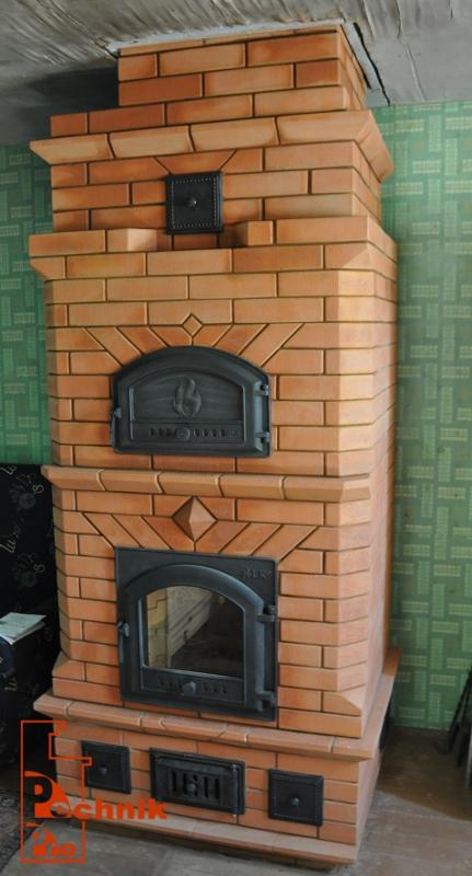 Камин-печь для дома из кирпича своими руками фото 53