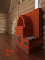 Печь отопительная в 3D