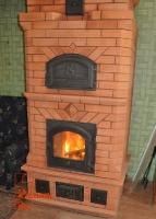 Небольшая кирпичная печь для дачи