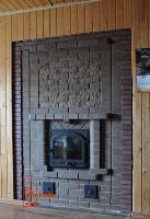 Печка из кирпича в стиле камина