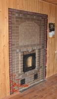Камино печь с порталом и панно
