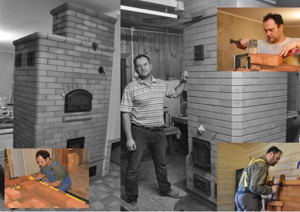 Кладка и строительство любых кирпичных печей для отопления